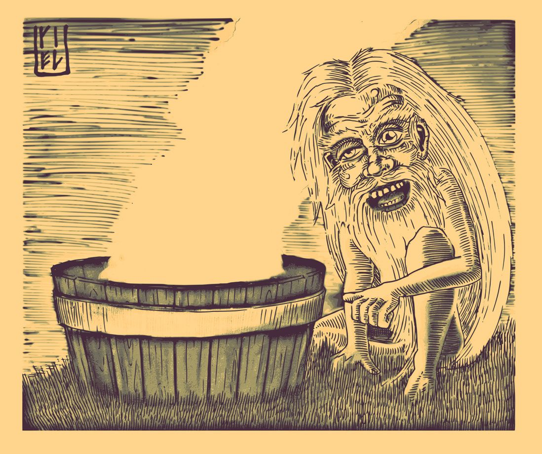 Банник - Дух который живёт в бане