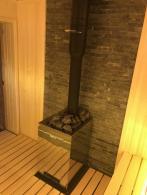 Баня с Harvia 22 Duo и LED подстветкой