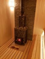 Баня с печью Kastor Saga с топкой внутри парной