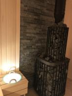 Баня с печью Kastor Saga и шайкой Cariitti